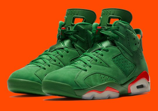 "Air Jordan 6 ""Gatorade"" In Green Suede Releases On December 30th"