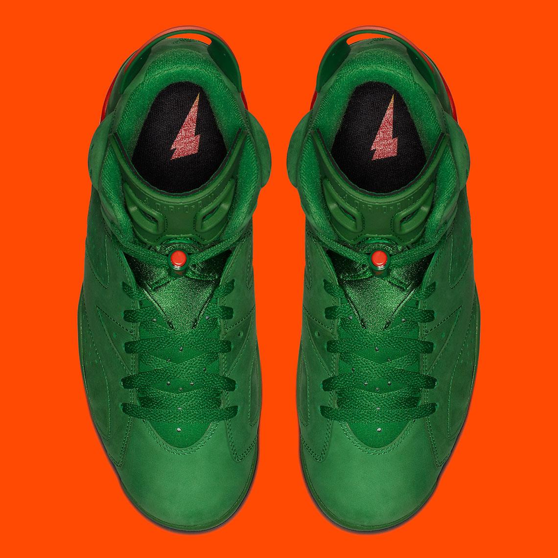 b8e3a7fd4347 Jordan 6 VI Gatorade Green Suede AJ5986-335 Release Info ...
