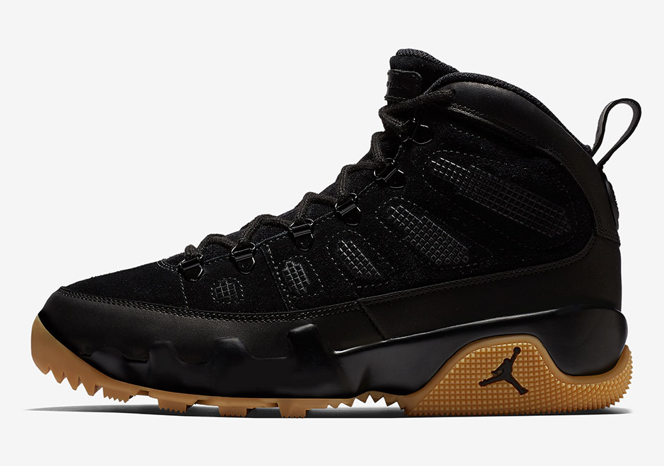 the latest 5baa7 d3822 Air Jordan 9 NRG Boot Olive and Black/Gum Release Date + ...