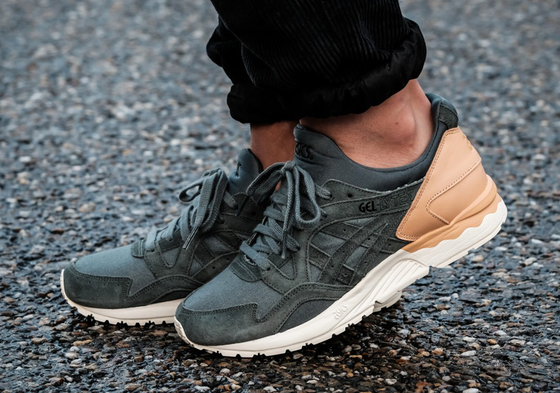 lowest price 08e60 e6982 ASICS GEL-Lyte V Tan Leather Green Suede | SneakerNews.com
