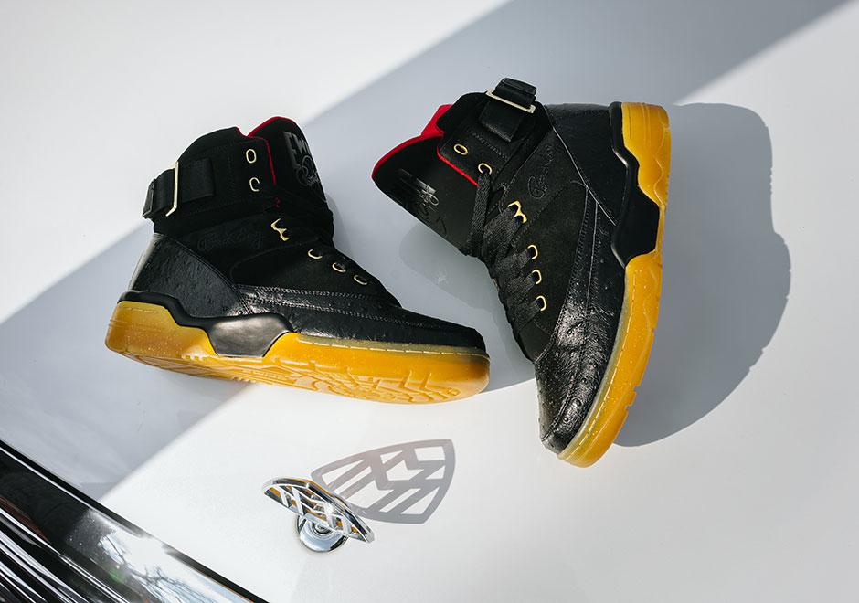 EWING 33 RICK ROSS - Sneaker high - black/metallic gold/red ibcsmIc