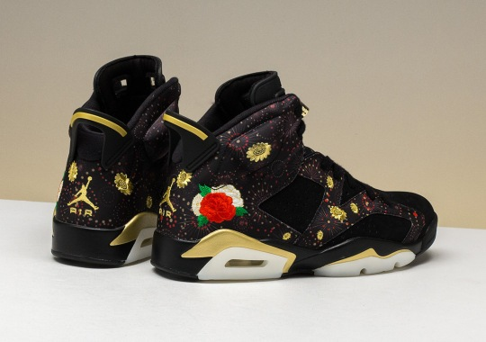 "Floral Themes Appear On The Air Jordan 6 Retro ""Chinese New Year"""