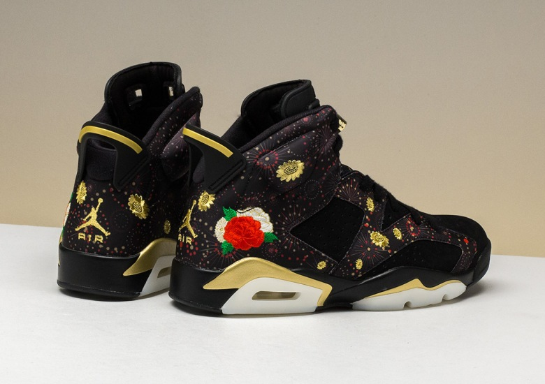 floral themes appear on the air jordan 6 retro chinese new year