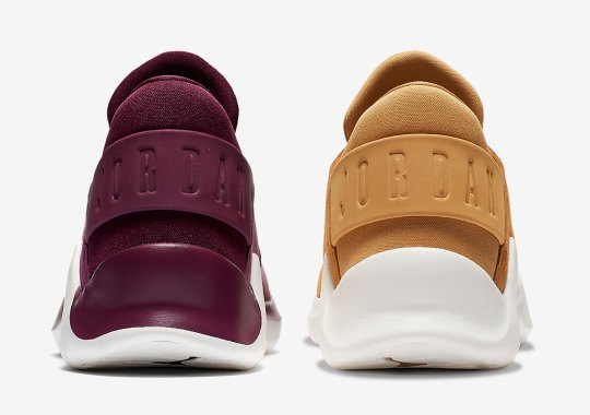 "The Jordan Flight Fresh Premium Appears In ""Wheat"" And ""Bordeaux"""
