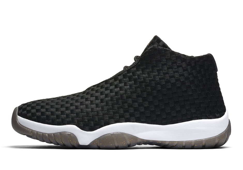 Jordan Future Release Date: January 6, 2018 $150. Color: BLACK/BLACK-WHITE-METALLIC  GOLD