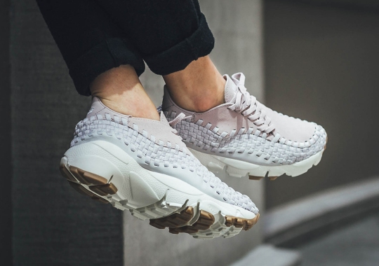sports shoes b1136 e44ad Nike s Quirky Air Footscape Woven Releases In A Soft Rose Pink