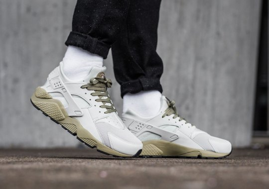 The Nike Air Huarache Gets Stylish With Light Bone And Neutral Olive