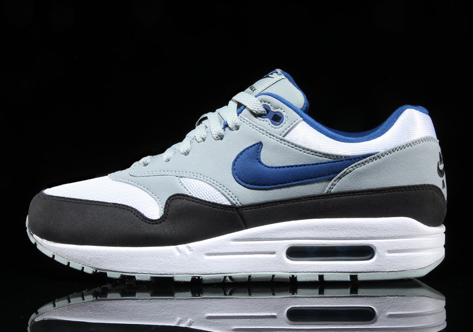 the latest 8ae65 92d37 Nike Air Max 1. AVAILABLE FROM Premier  120. Color  White Gym Blue-Light  Pumice-Black Style Code  AH8145-102