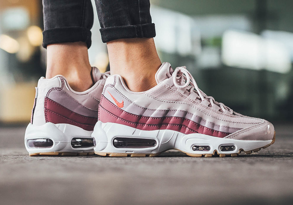 7418f579b8d92c Nike WMNS Air Max 95. AVAILABLE FROM Titolo Color  Barely Rose Hot Punch- Vintage Wine-White