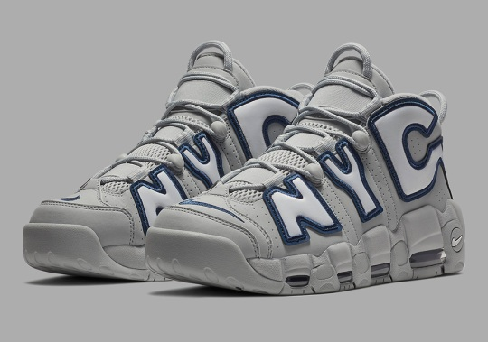 "The Nike Air More Uptempo ""NYC"" Gets Fitted In Yankees ""Away"" Colors"