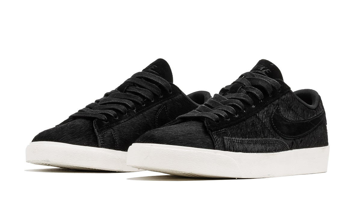 Nike's Blazer Low LX For Women Arrives In Black Pony Hair