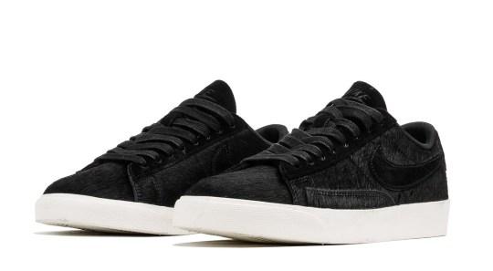 Nike's Blazer Low LX For Women Arrives In Black Pony Hair