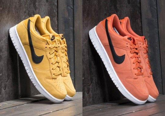 Nike Brings Back The Dunk Low In Clean Suede Colorways