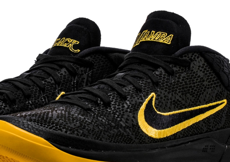"promo code 4c1f3 8b949 Kobe Bryant s Upcoming Nike Shoe Hint s At Lakers ""Black Mamba"" Jerseys"