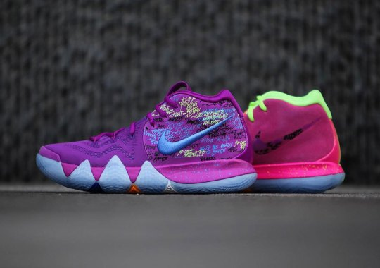 """Detailed Look At The Nike Kyrie 4 """"Confetti"""""""