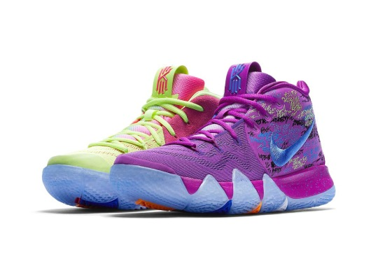 """Nike Kyrie 4 To Debut In """"Confetti"""" Colorway On Saturday"""