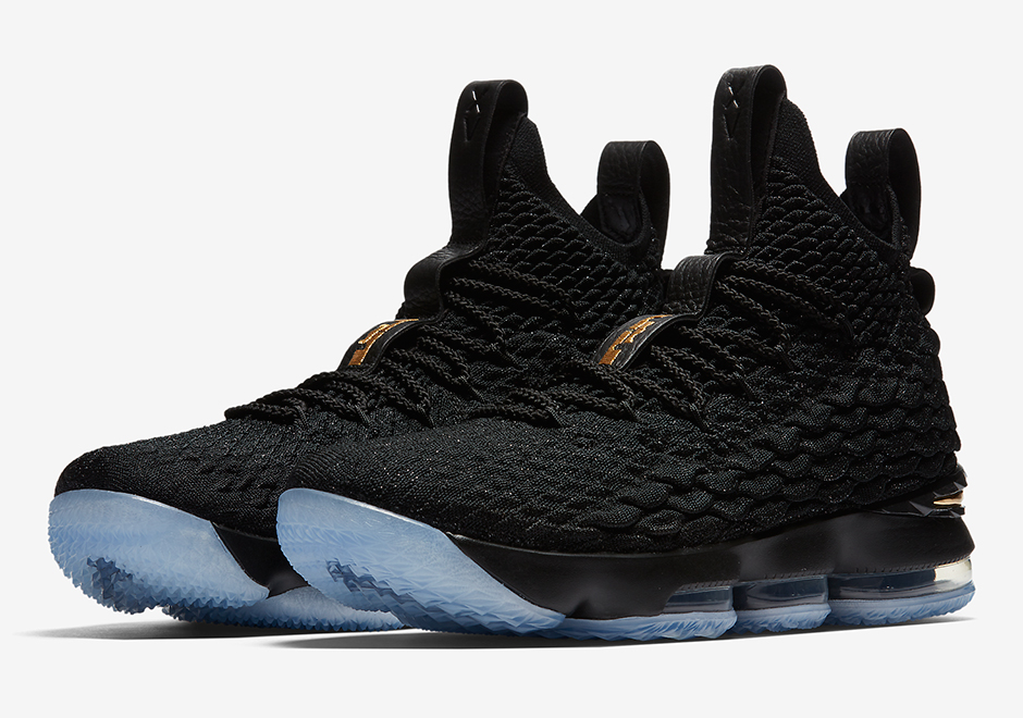 New Nike lebron 15 Gloden Shoes