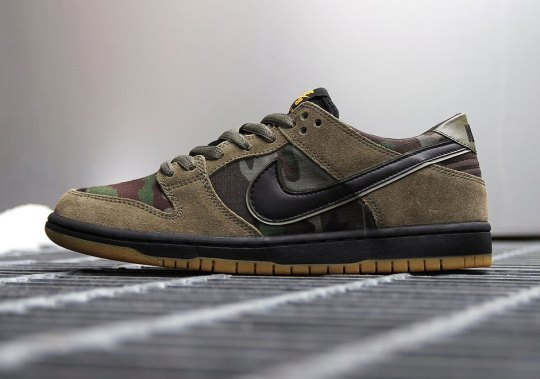 The Nike SB Zoom Dunk Low Appears In Classic Camo