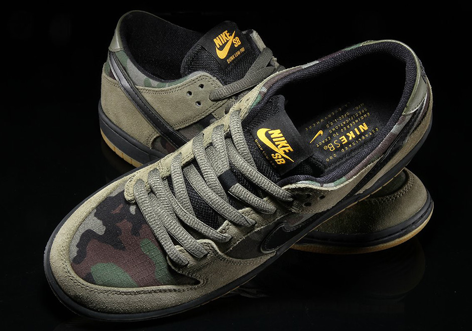 f518ec2d5 Nike SB Zoom Dunk Low Classic Camo Available Now + Photos ...