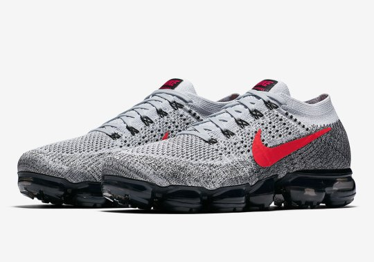 The Nike Vapormax Sets Foot On New Grey/Red Colorway