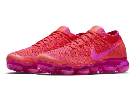 Nike Vapormax Pairs A Bright Crimson With Hot Pink