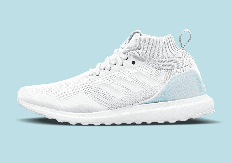 After taking their partnership outside of the BOOST realm with their previous drop, Parley For The Oceans and adidas are back with a new Ultra BOOST Mid ...