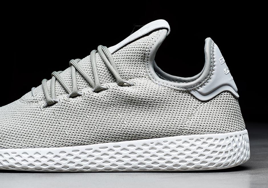 6ab685962 Pharrell adidas Tennis Hu Charcoal + Grey Available Now ...
