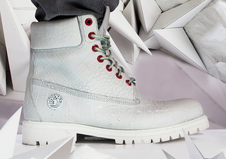 "Timberland Unveils The 6″ Premium Boot In A Lux ""White Serpent"" Colorway 97439f60e3"