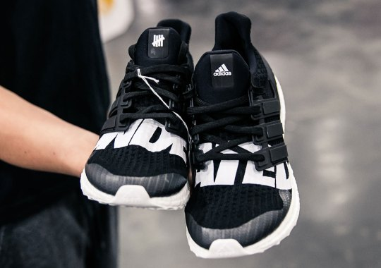 Early Sample Of UNDEFEATED x adidas Ultra Boost Appears At Sneaker Con