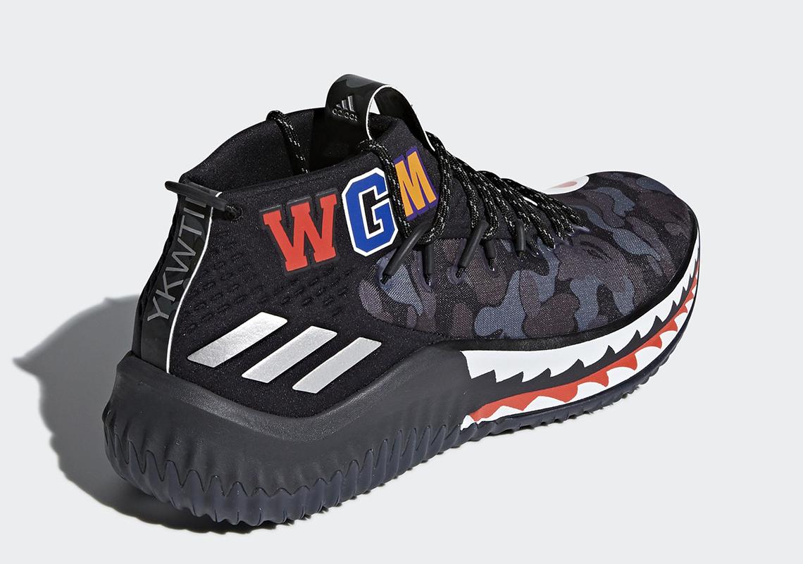 heet Bape X Adidas Dame 4 Bape X Adidas Dame 4 [SKU 23035
