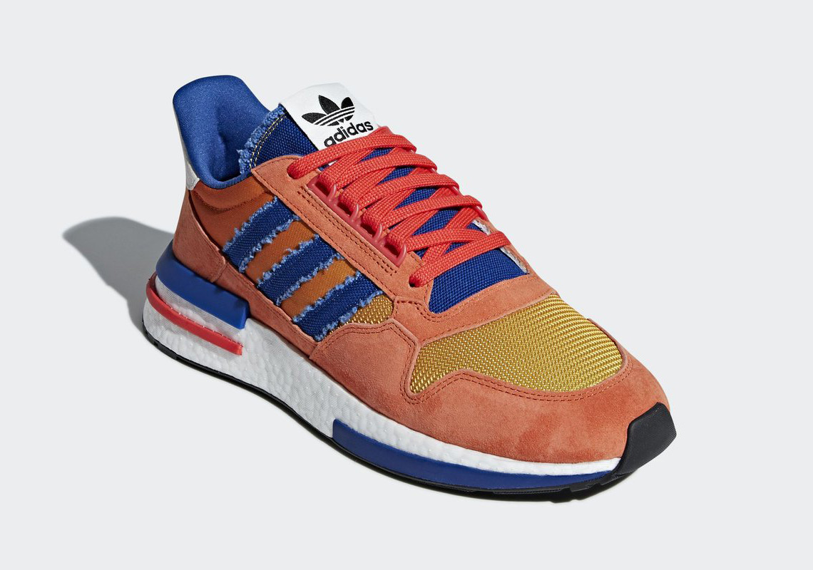 separation shoes 1c446 d5c66 Dragon Ball Z x adidas ZX 500 RM Release Date September 29, 2018 170.  Color OrangeCollegiate RoyalHi-Res Red