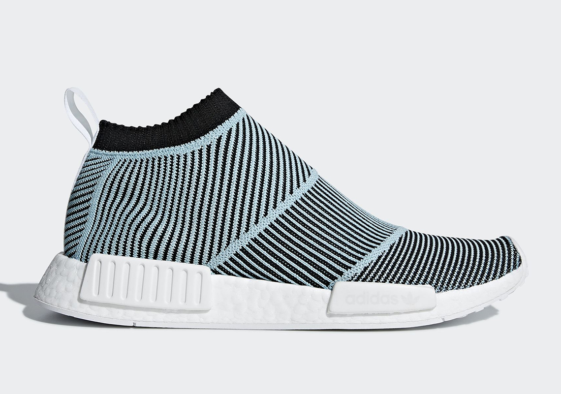 b8e78b1021bb31 Parley For the Oceans x adidas NMD City Sock Color  Core Black Core Black  Blue Spirit