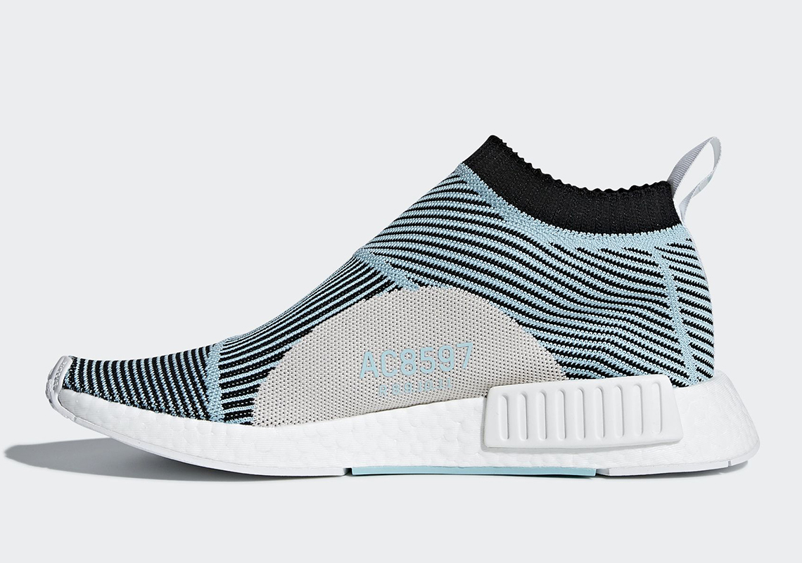 57ae254005d Parley For the Oceans x adidas NMD City Sock Color  Core Black Core Black  Blue Spirit