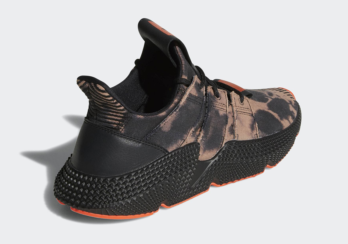 Adidas Prophere Bleached Upper / DB1982 / Men's Textile Canvas Black Solar Red