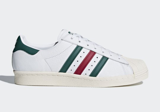 This adidas Superstar Features Italian Stripes
