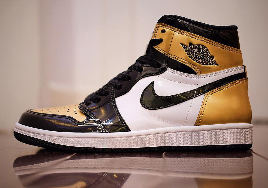 "Air Jordan 1 Retro High OG ""Gold Toe"" Is Releasing In Adult And Kids Sizes"