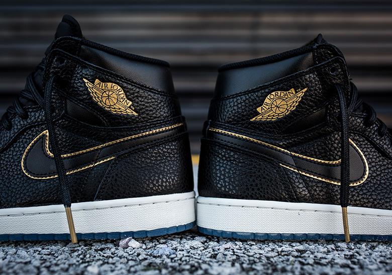 171725f75aa Air Jordan 1 Black Gold Los Angeles 555088-031 Release Info ...