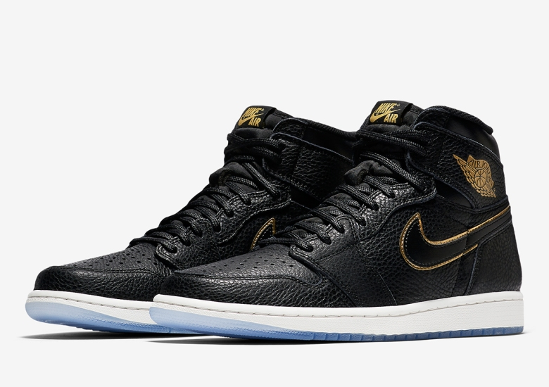 finest selection 1b266 a69b9 Air Jordan 1 Black and Gold Tumbled Leather Official Images ...