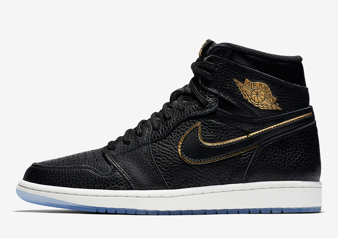 finest selection 3b489 d724d Air Jordan 1 Black and Gold Tumbled Leather Official Images ...