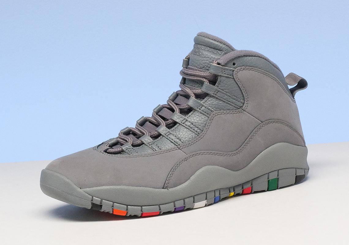 Air Jordan 10 Cool Grey Closer Look 310805 022