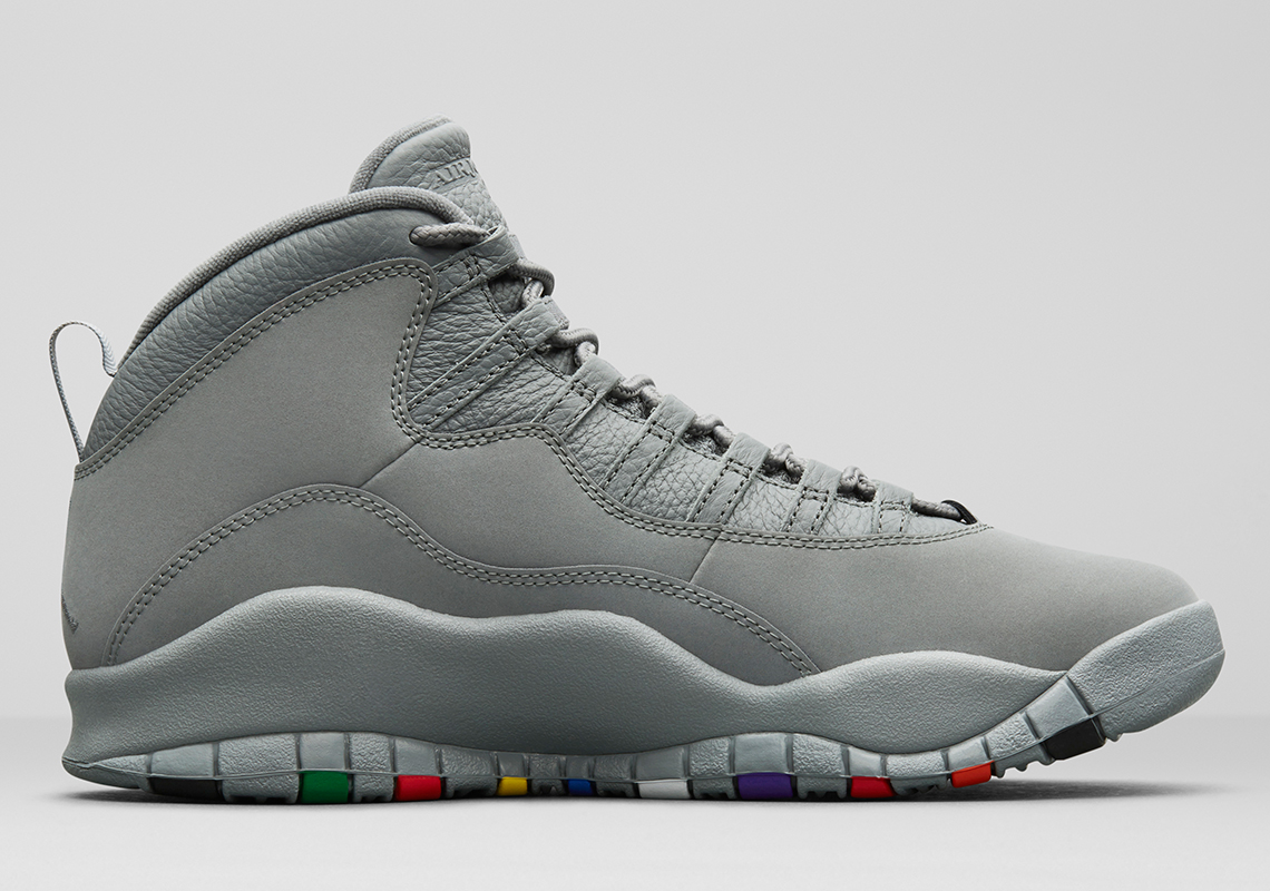 "25124317f58 Air Jordan 10 ""Cool Grey"" Release Date: January 27, 2018. AVAILABLE VIA  Nike+ Early Access AVAILABLE AT Stadium Goods $190. Color: Cool Grey/White"
