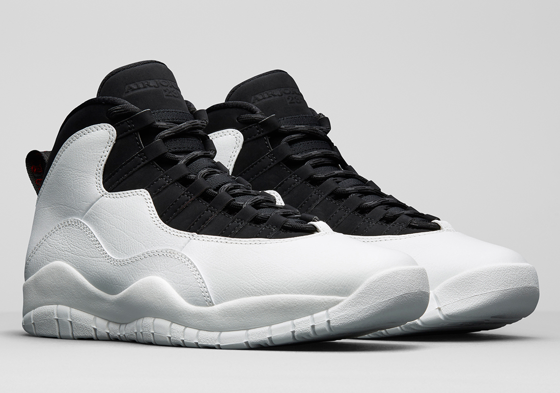 "97ab81480ee Air Jordan 10 ""I'm Back"" $190. Color: Summit White/Black/University Red"