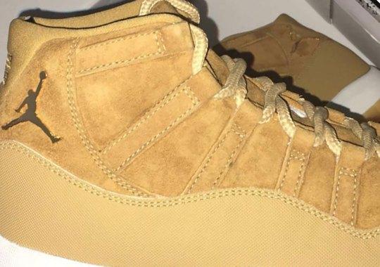 "Air Jordan 11 ""Wheat"" Sample Surfaces"