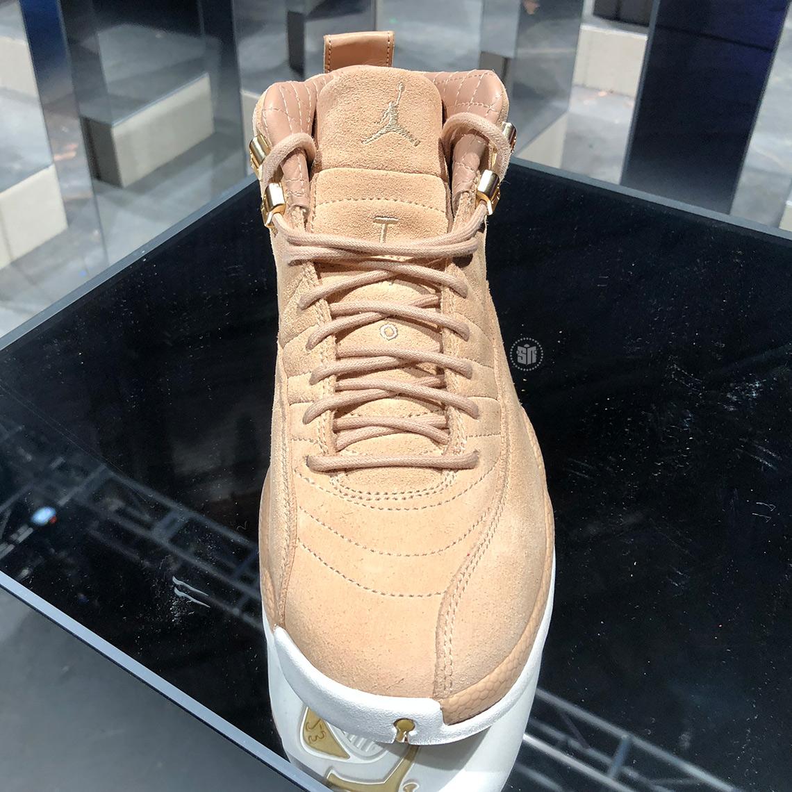 """Air Jordan 12 """"Vachetta Tan"""" WMNS Closer Look ..."""