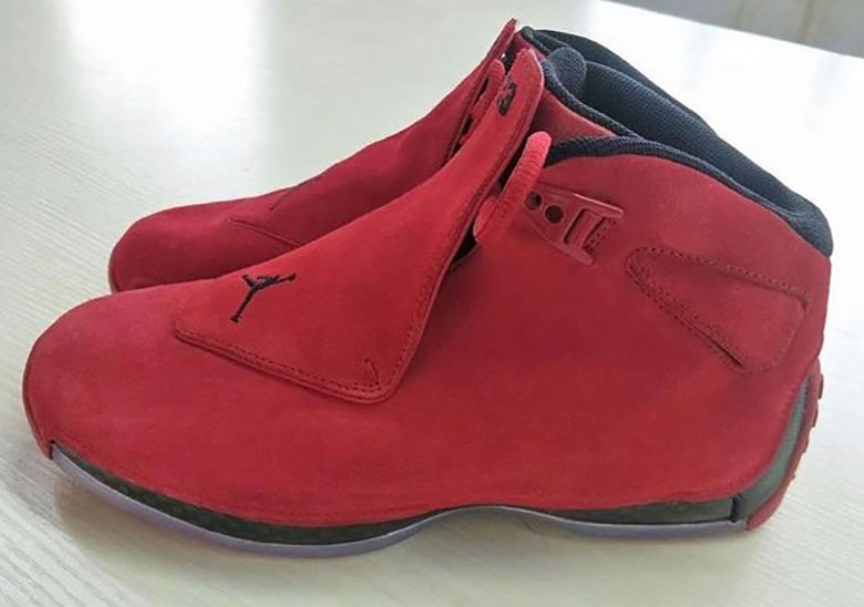 "5df3b9d25d3ac2 Air Jordan 18 Retro ""Red Suede"" Releasing In 2018"