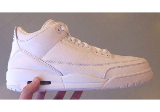 "Air Jordan 3 ""Triple White"" Releasing In July"
