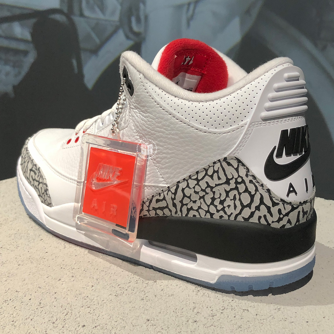 Air Jordan 3 Clear Sole Dunk Contest White Cement First Look ... 5dce2c6a0