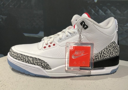 """Jordan Brand Celebrates Michael's 1988 Dunk Contest With Air Jordan 3 """"White/Cement"""" With Clear Soles"""