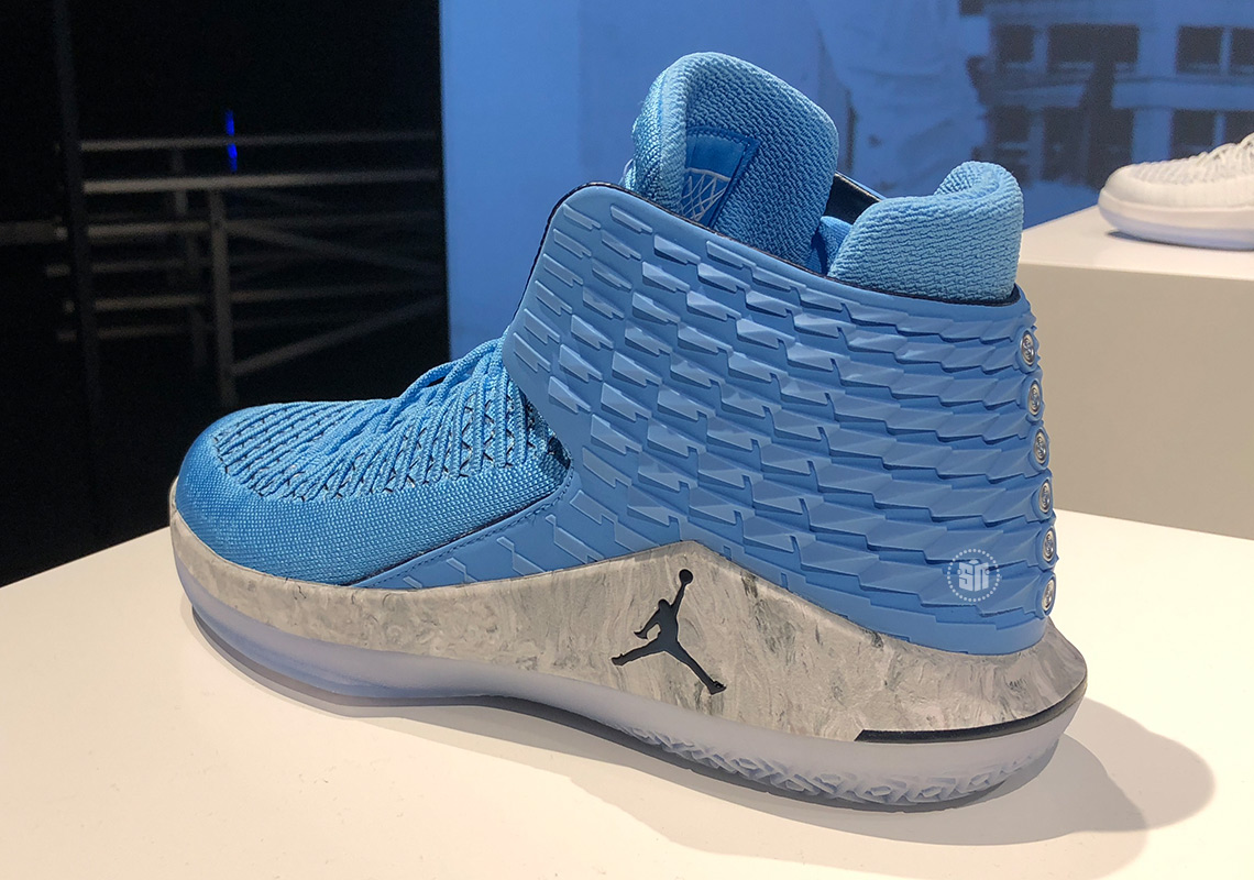 "f60e6030e64578 Air Jordan 32 ""UNC"" Honors The Tar Heels  Six National Championships"