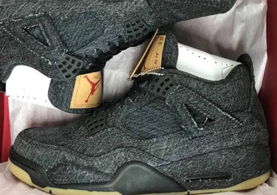 First Look At The Levi's x Air Jordan 4 in Black